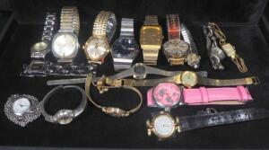 Wristwatches, Mens And Womens, Brands Include Seiko, Elgin, Bulova, And More, Total Qty 17