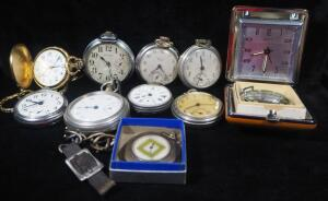 Pocket Watches, Brands Include Waltham, Westclox, Equity And More, Total Qty 11
