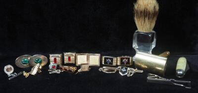 Men's Accessories, Includes Cufflinks, Tie Clips, Shaving Brush And Razor, And More
