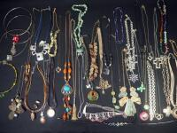Collection Of Costume Necklaces, Includes Silver Tones, Gold Toned And Multicolored, Various Lengths And Styles - 4