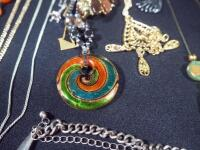 Collection Of Costume Necklaces, Includes Silver Tones, Gold Toned And Multicolored, Various Lengths And Styles - 6
