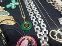 Collection Of Costume Necklaces, Includes Silver Tones, Gold Toned And Multicolored, Various Lengths And Styles - 9