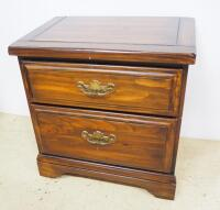 "Two Drawer Side Table, 23.5"" High x 23"" Wide x 16"" Deep - 2"