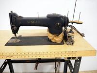 "Singer Sewing Machine Model 245-3 SN# AF947261 On Phill-O-Craft Sewing Table, Motor Powers On But Needle Doesn't Move, 29.5"" H x 48"" W x 19.5"" D - 2"