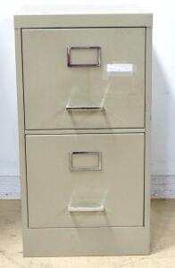 "Letter Size 2 Drawer Filing Cabinet, 29"" High x 15.5"" Wide x 18"" Deep"