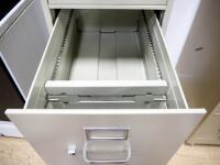 "Hon Letter Size 4 Drawer Filing Cabinet, On Wheels, 54.5"" High x 15.5"" Wide x 26.5"" Deep - 3"