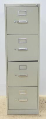 "Hon Letter Size 4 Drawer Filing Cabinet, With Lock, No Key, 49"" High x 15"" Wide x 22"" Deep"
