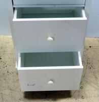 "Storage Cabinet With 2 Adjustable Shelves And 2 Separate Lower Drawer, Damage To Top Drawer, 60"" High x 18"" Wide x 14"" Deep - 5"