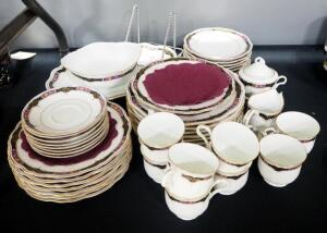 Mikasa Fine China Dish Set, Chateau Lafite Pattern, Includes Cups, Sugar, Creamer, Dinner And Dessert Plates, Saucers, Serving Platter, And More, 45 T