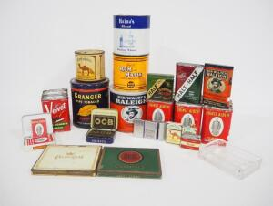 Vintage Tobacco Tins, Various Styles And Sizes, Lighters (6, Some Zippo) And More, Total Qty 38