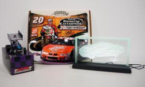 Racing Collectibles, Includes Tony Stewart Etched Glass Light (Powers On), Signed Tony Stewart Mini Hood And Diecast Billy Pauch Sprint Car