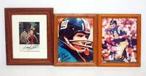 Autographed Athlete Photos, Includes Dan Fouts With COA Sticker, Y.A. Tittle, And Frank White, Total Qty 3