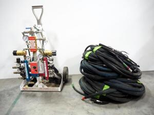 Super Can Industries Mobile Air Combi C.A.R.T., Series F-1 Model F-ASC-GOM-001, With 8 Sets Of Hoses And 12 Buddy Breathing Tubes