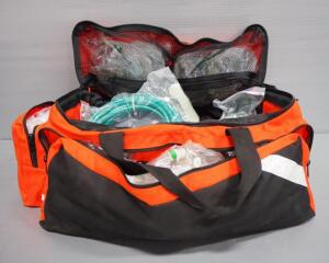 Oxygen Manifold Kit, Includes Manifold, Hoses, Adult And Pediatric Masks, And More, In Nylon Carry Bag