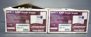 Securitron BPS 1 Amp Power Supply Boxes Model BPS-24-1, Qty 2, 1 NIB