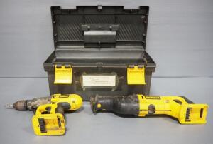 "DeWalt 1/2"" Cordless Hammer Drill DW006 And DeWalt Reciprocating Saw DW008, NO Batteries/Chargers Included, Unknown Working Order, See Descrip."