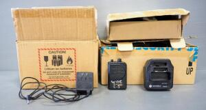 Motorola Minitor III Pagers, Qty 10, 5 Not Working Properly, With Charging Bases, Power Cords, And More, Contents Of 3 Boxes