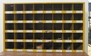 "Kar Products Metal Hardware Organizer, 21.5"" High x 35.25"" Wide x 12"" Deep, Some Hardware Included"