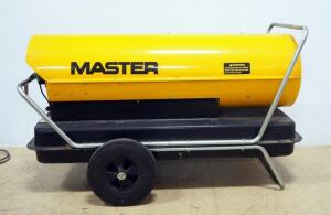 Master Portable Kerosene Heater Model B3500 SN# 7703600, On Wheels