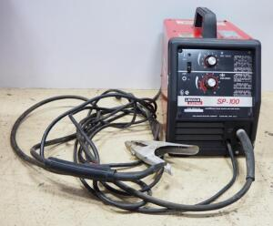 Lincoln Electric SP-100 Arc Welder, With Grounding Cables And Welding Gun Torch