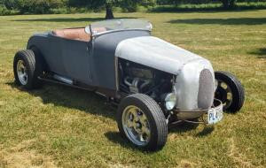 1929 Ford Model A Tudor Street-rod, Fenderless Roadster With A Custom Track Nose, VIN Number A16676, Odometer Reads 13,142, V8, Automatic Transmission, Drop Axle Front, 4 Link Rear, Disc Brakes, Auto Meter Gauges, Custom Shorty Windshield, SEE VIDEO For W