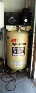 Ingersoll Rand 80 Gallon Professional Air Compressor, 135 Max PSI, Model SS5N5, Motor SS5, With Air Filtration, Bidder Responsible For Proper Removal, Hardwired In