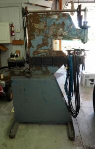 "Custom Built Electric Planishing Hammer With Dayton 1 HP Electric Motor, 75"" Tall x 36"" x 40"", Incomplete"