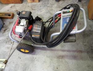 Ex-Cell DeVilbiss Gas Powered Pressure Washer With 5 HP Honda Motor, Includes Hoses And Spray Nozzle