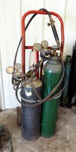 Oxygen And Acetylene Torch, Includes Tanks And 2 Wheel Dolly