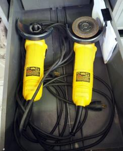 DeWalt 4.5 Inch Electric Angle Grinders Model DW818 Qty 2, 1 Missing Parts