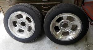 15 Inch Aluminum Wheels With BF Goodrich Radial Tires P195/60R15, Qty 2