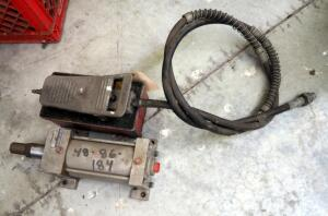 Pneumatic Foot Pressure Switch, Milwaukee Hydraulic Cylinder Model B9482, And Williams Lowbuck Tools Punch Parts
