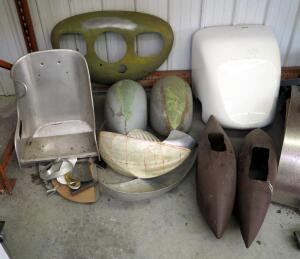 Airplane Fuselage Parts, Aluminum Seat And More