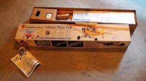 Carl Goldberg Anniversary Edition Piper Cub RC Sport Scale Plane Model Kit Number 63 In Original Box, No Motor