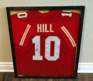 "Tyreek Hill Signed 29"" X 33"" Custom Framed Jersey, JSA COA"