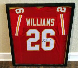 "Damien Williams Signed 29"" X 33"" Custom Framed Jersey, JSA COA"