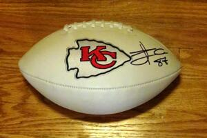 Travis Kelce Signed Football