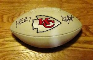 Dustin Colquitt And Harrison Butker Signed Football