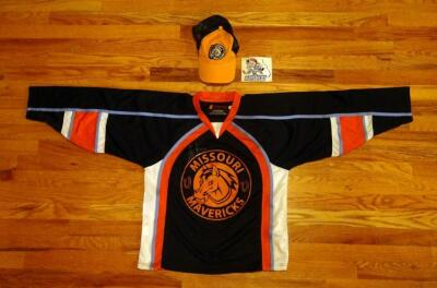 Missouri Mavericks Jersey, Size YL, Hat And Sticker, Size S M