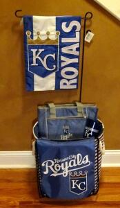 Kansas City Royals Cup, Yard Sign With Stake, Cooler And Bag
