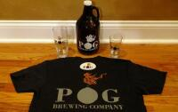 Pog Brewing Shirt, Glasses, Growler, And Sticker - 2