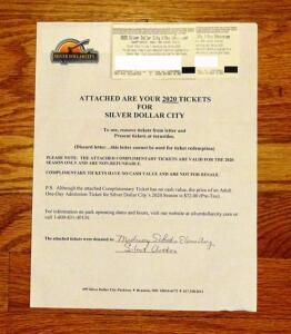 2 Complimentary Tickets To Silver Dollar City