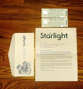 Starlight Theatre, 2 Complimentary Tickets