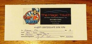 Magic Touch Car Detail, $50 Gift Certificate