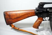 Olympic Arms Model P.C.R. 99 .223-5.56mm Rifle SN# JJ 0478, Custom Black Walnut Stock, Pistol Grip, Hand Guard, 30 Rd Mag, And Leather Sling, In Case - 10