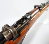 "Lee Enfield Mark III .303 British Bolt Action Rifle SN# 93407, Gun Stamped With ""G.R B.S.A. Co 1917 Sht. L.E. III"", With Sling Rings - 18"