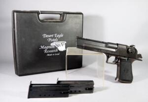 Israel Military Industries Ltd/Magnum Research Desert Eagle .50 AE Cal Pistol SN# 31203792, 2 Total Mags, In Hard Case