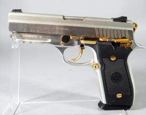 Forjas Taurus S.A. PT/38S .38 Super Auto Pistol SN# LD082476, With Gold Accents