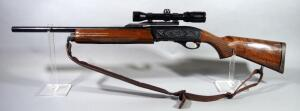Remington Model 11-87 Premier 12 ga Shotgun SN# PC805367, With Bushnell Banner Scope, Scroll Work, And Padded Leather Sling