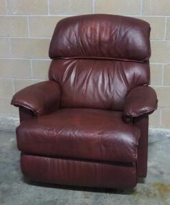 "La-Z-Boy Leather Recliner, Approx 41"" High x 37"" Wide, Matches Lot 14"